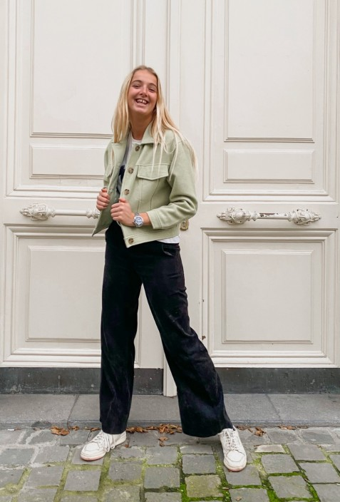 Pantalon noir en velour - We love serious