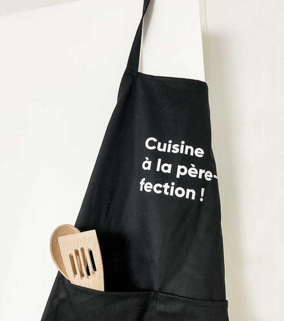 """Tablier """"cuisinier à la père-fection"""" l'Avant-gardiste"""