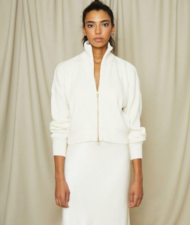 Pull blanc - Valentine Witmeur lab