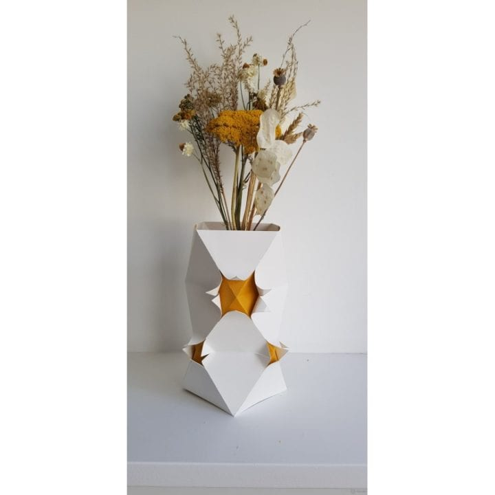 Vase en origami - Kami Light