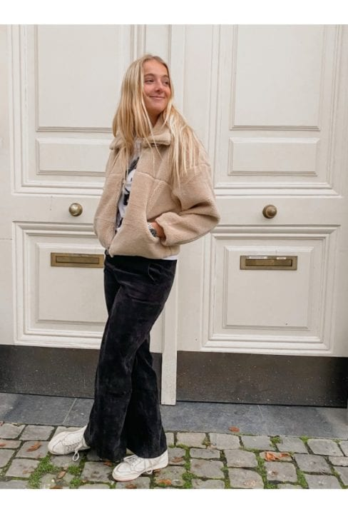 Manteau en doudou beige - We love serious