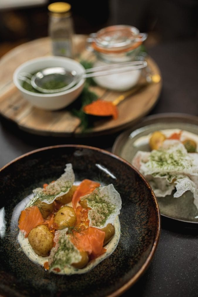 recette-saumon-crème