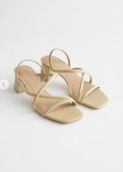 CHUNKY STRAP HEELED LEATHER SANDALS