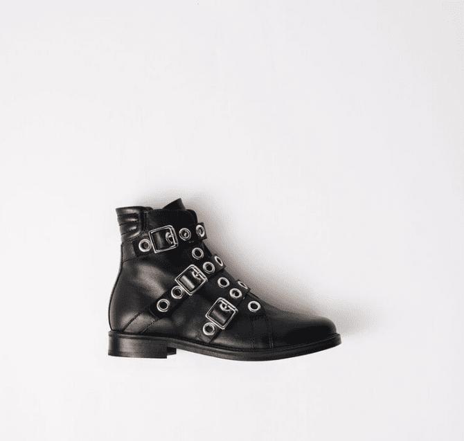 Boots noires Maje à boucles