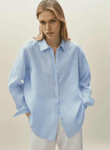 Chemise bleu Massimo Dutti