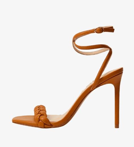 Sandales à talons hauts camel