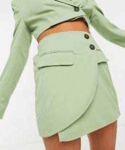 Bershka - Mini-jupe ajustée vert pistache