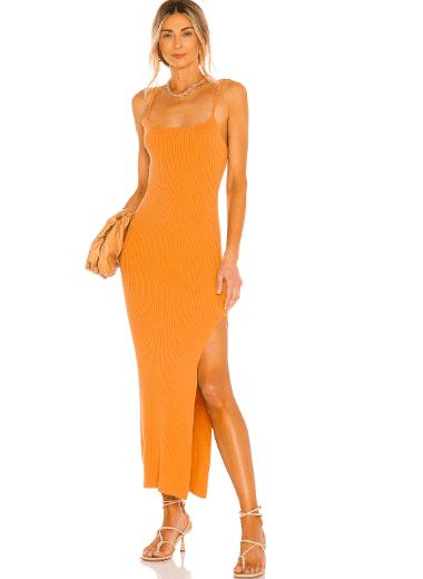Longue robe orange Revolve