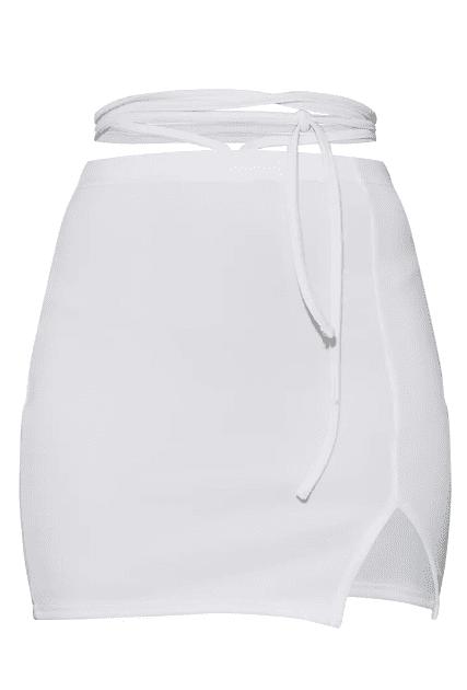 Jupe laniere blanche PLT