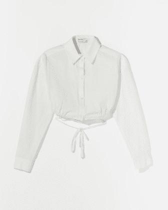 Chemise laniere blanche bershka asos