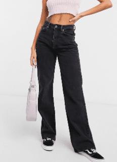 Jeans noir taille basse stradivarius asos
