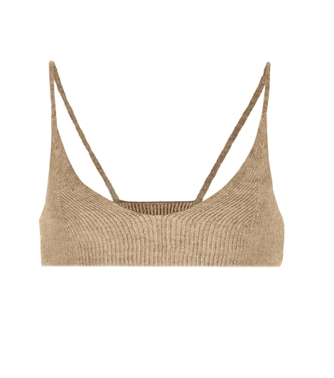 Bralette taupe Jacquemus luxe