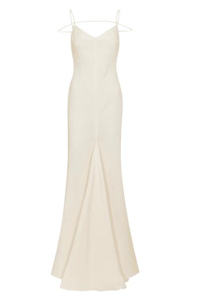 Robe longue avec laniere creme Jacquemus luxe