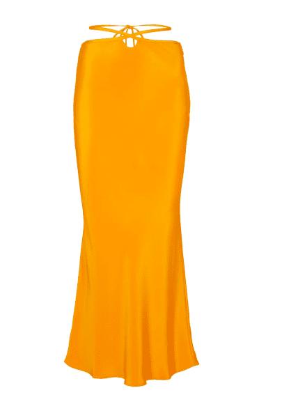 Jupe midi orange laniere Christopher Esber luxe