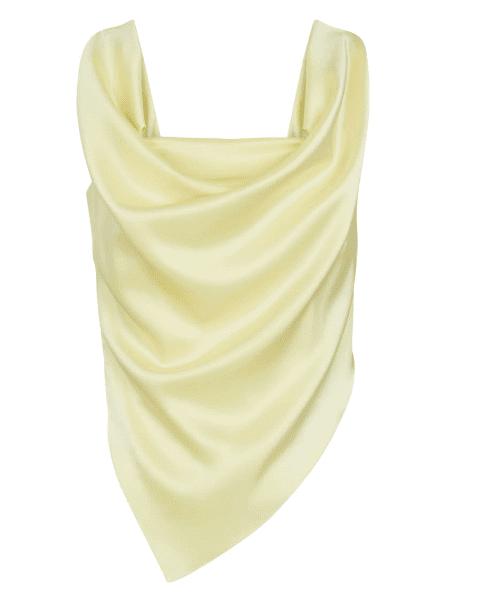 Top en satin creme asymetrique Nanushka luxe
