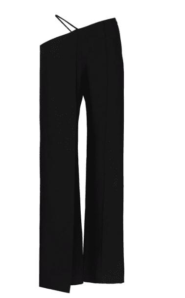 Pantalon noir asymetrique Aleksandre Akhalkatsishvili luxe