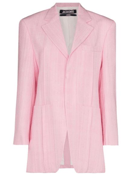 Blazer rose Jacquemus luxe