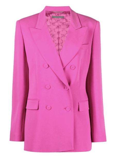Blazer rose peps Alberta Ferretti luxe