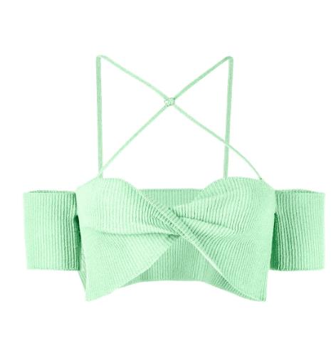 Bralette vert pistache Jacquemus luxe