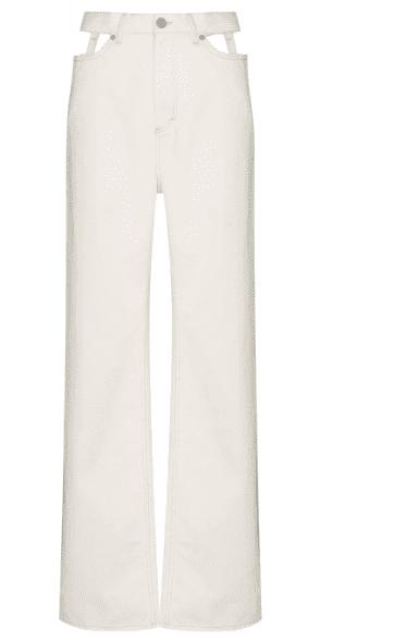 Jeans blanc cut out Maison Margiela luxe