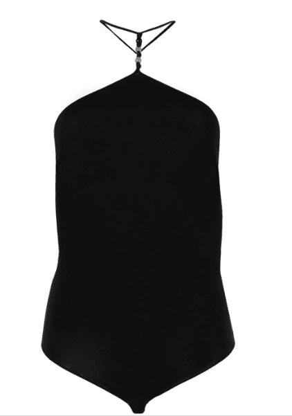 Body perlé noir asymetrique Bottega Veneta luxe