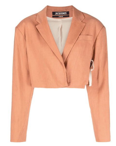Crop blazer orange Jacquemus luxe
