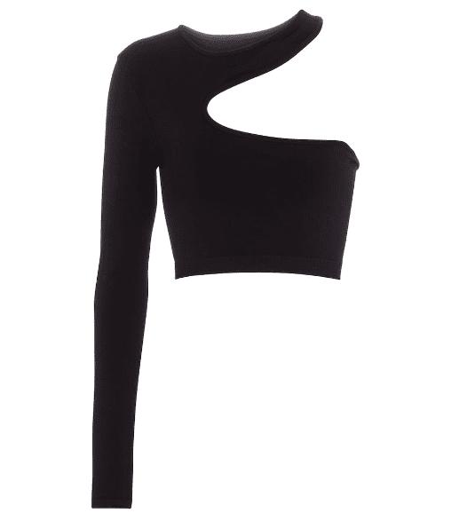 Top noir asymetrique Helmut Lang luxe