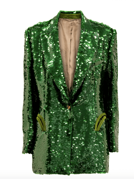 Blazer en sequin vert disco LUXE - Blazé Milano