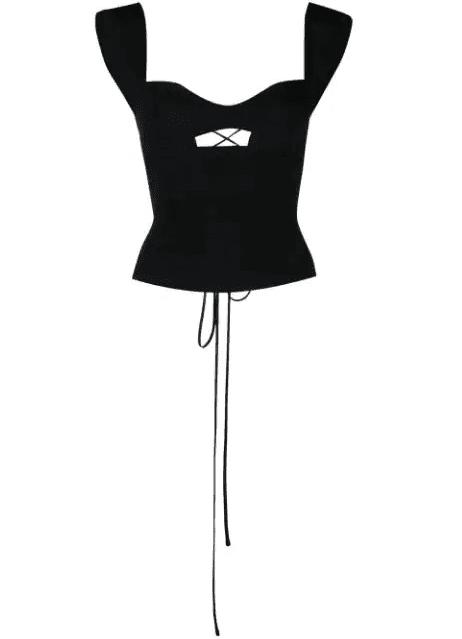 Top bustier/corset noué dans le dos Magda Butrym LUXE