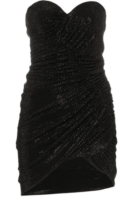 Robe bustier noir disco Alexandre Vautier LUXE