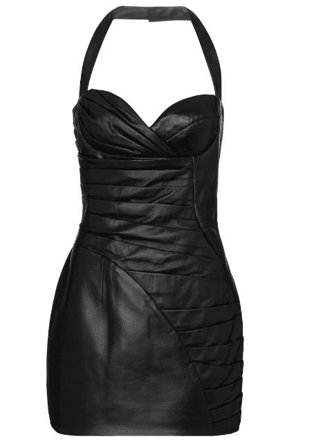 Rober bustier noir en cuir Balmain LUXE