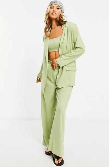 Costume vert Asos