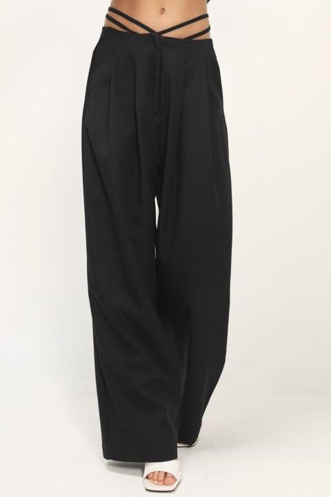 Pantalon laniere taille basse Storets