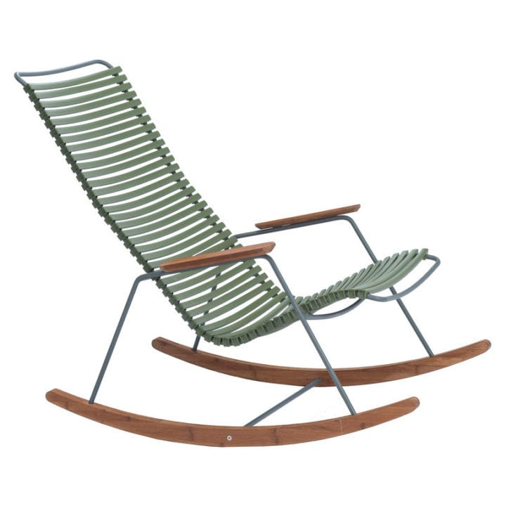 Rocking chair Click : Plastique & bambou - Houe Made In Design