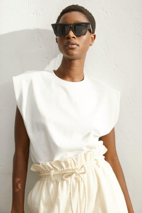 Top blanc en coton H&M