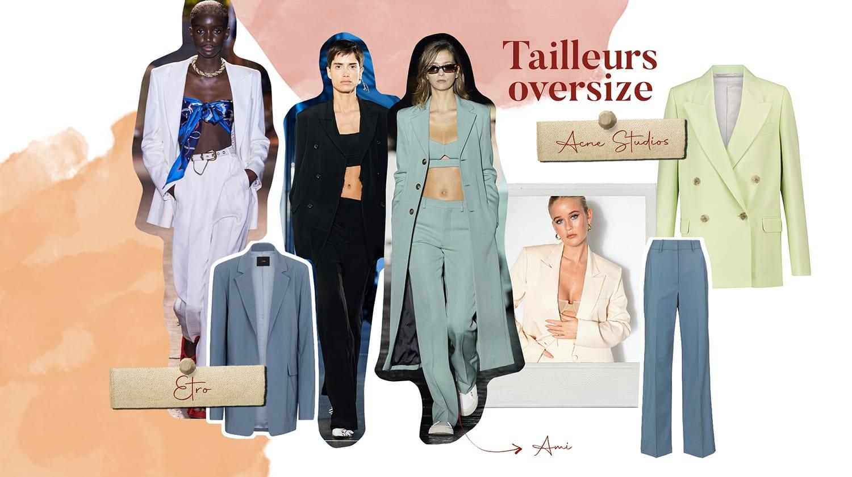 tendance mode printemps ete costume oversized