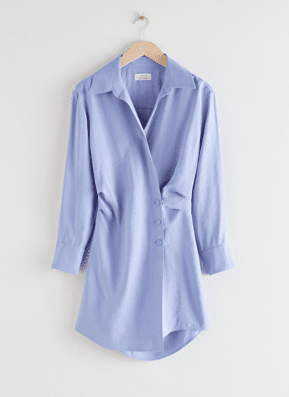 Asymmetric Mini Shirt Dress - bleu ciel - & Other Stories - Wishlist Mai 2021