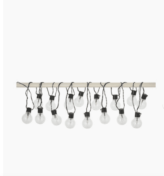 Guirlande lumineuse guinguette LED Partaj, 950 cm - Westwing