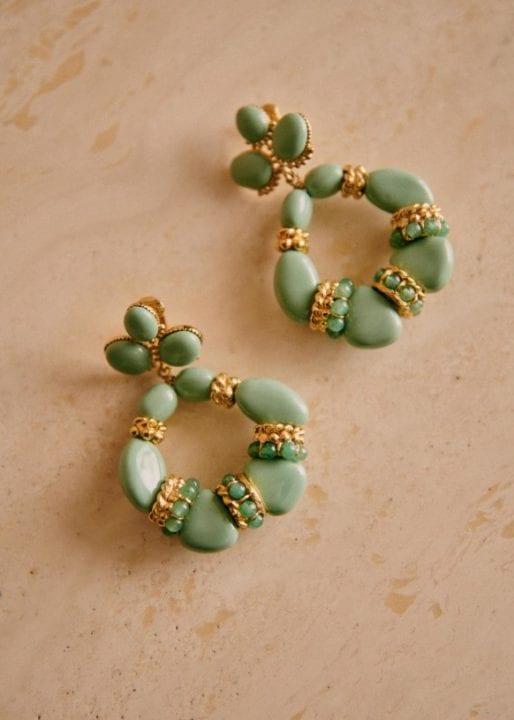 Hillary earrings - sage green - Sézane - Sélecion fête des mères