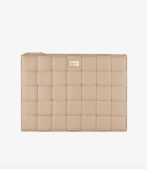 Pochette Macbook 16'' - LIGHT CAMEL - Braided Laptop Sleeve - IDeal Sweden