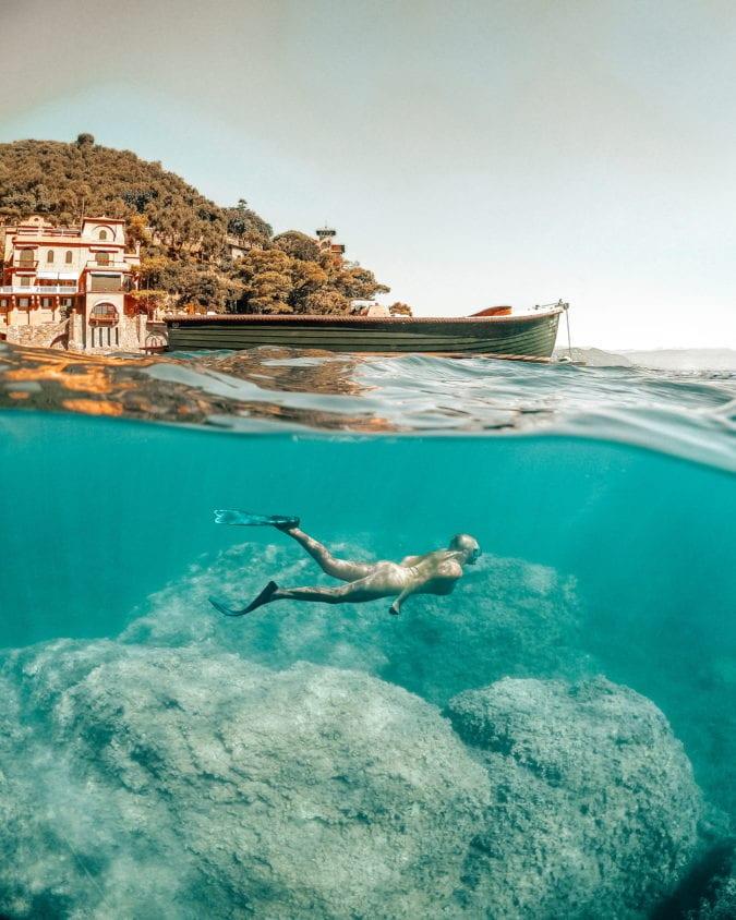 Snorkeling dans la baie de Portofino