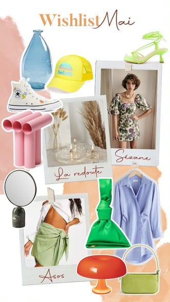 wishlist mai - décoration et vêtements