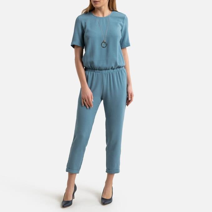Anne Weyburn - Combinaison bleu grisé - maille reliéfée - La Redoute