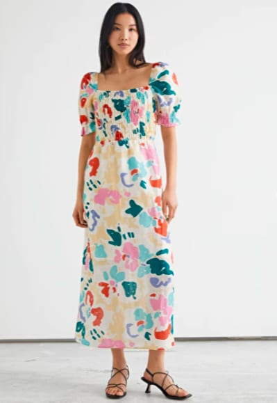 Longue robe fleurie multicolore – And Other Stories