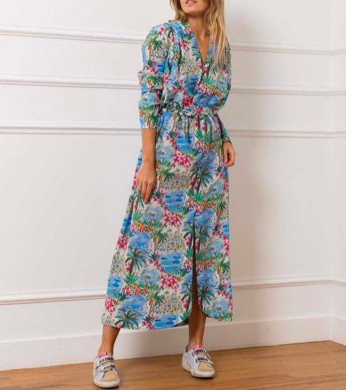 Roseanna – robe longue Mercy Liberty Corfou – Jane de Boy