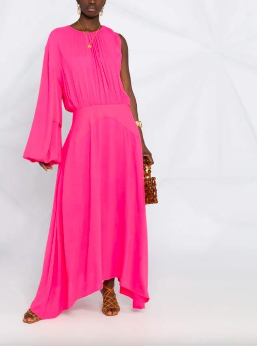Stella McCartney – longue robe asymétrique – rose – Farfetch