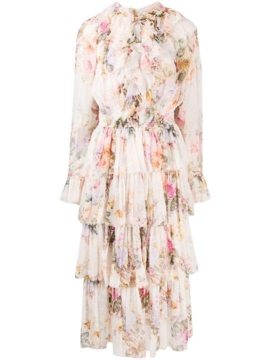 Zimmerman - robe beige à fleurs - Farfetch