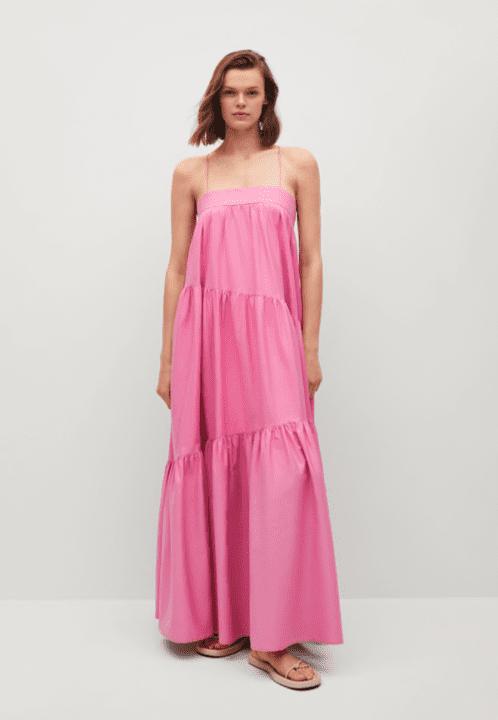 robe maxi rose