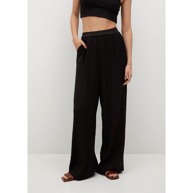 mango pantalon noir