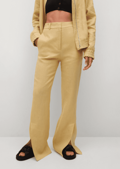 pantalon mango jaune
